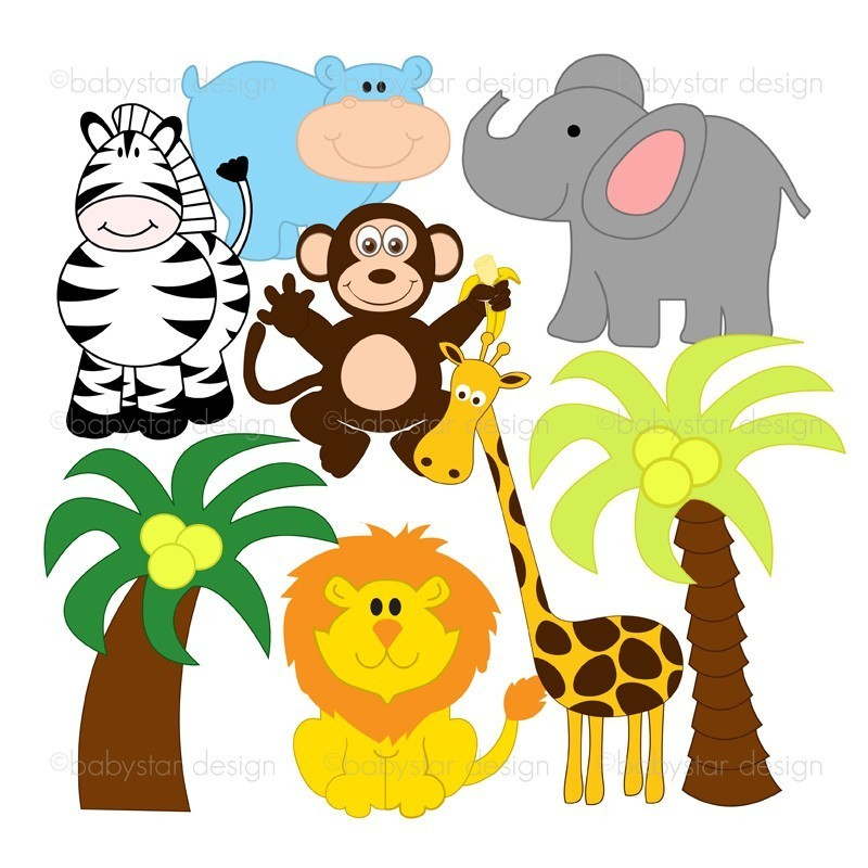 Jungle Animals Clipart--4