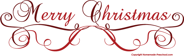 Merry Christmas Clipart Free--7