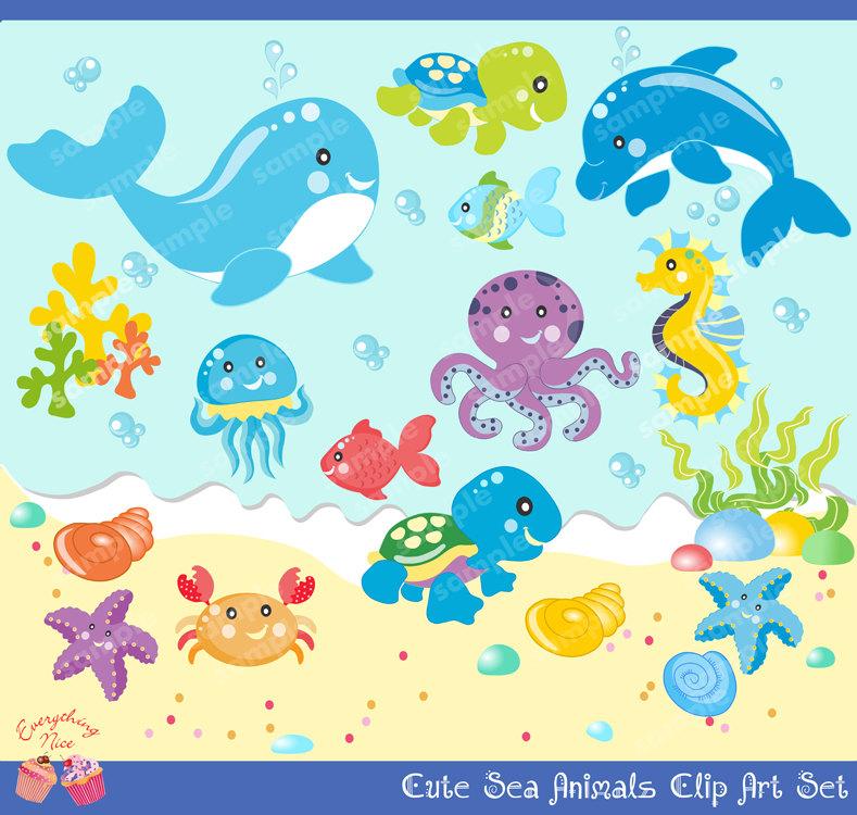 Ocean Animal Clip Art--17