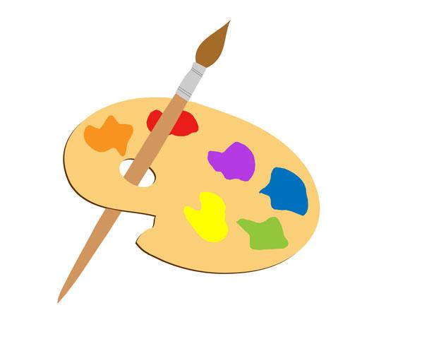 Paint Palette Clip Art--6