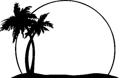 Palm Tree Clip Art--2