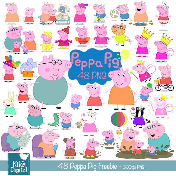Peppa Pig clipart numbers age