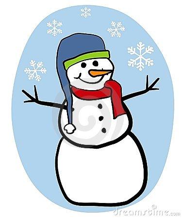 Snow Man Clip Art--0