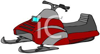 Snowmobile Clip Art--0