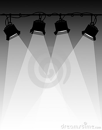 Stage Lights Clipart--0