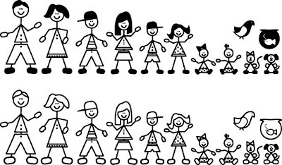 Stick Figure Family Clipart--0