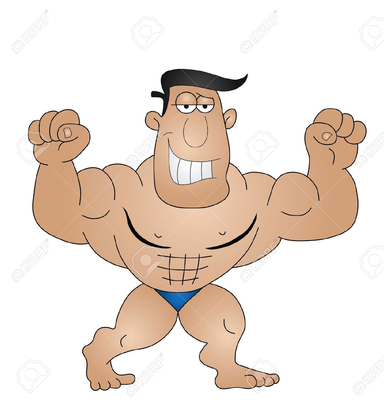 Strong Man Clipart--0