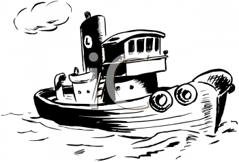 Tugboat Clipart--0
