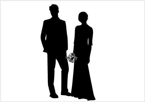 Wedding Silhouette Clip Art--0