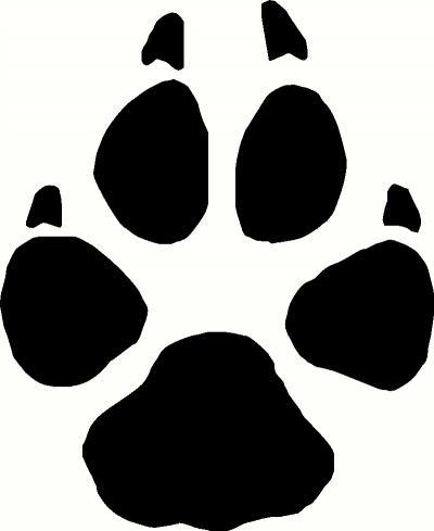 Wolf Paw Print Clip Art--1