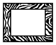 Zebra Border Clip Art