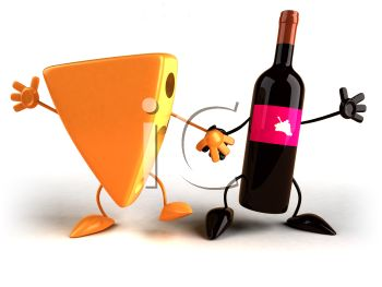 Wine And Cheese Clipart