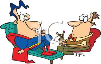 0511 1105 1616 1842 Superhero At His Therapist Clipart Image Jpg