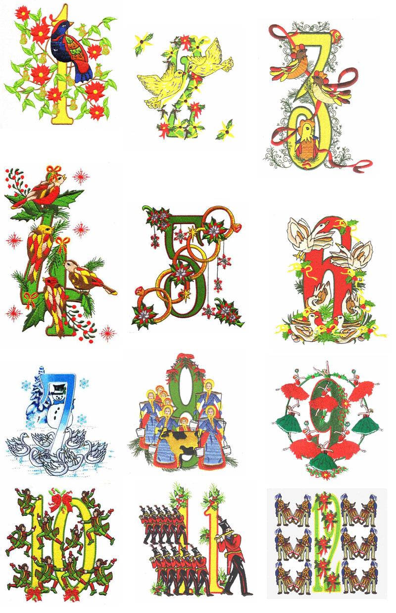 0fecbcb0faddc72384f025cce4ea2 - 12 Days Of Christmas Clipart