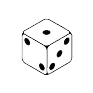 1 Dice Clipart-1 dice clipart-1