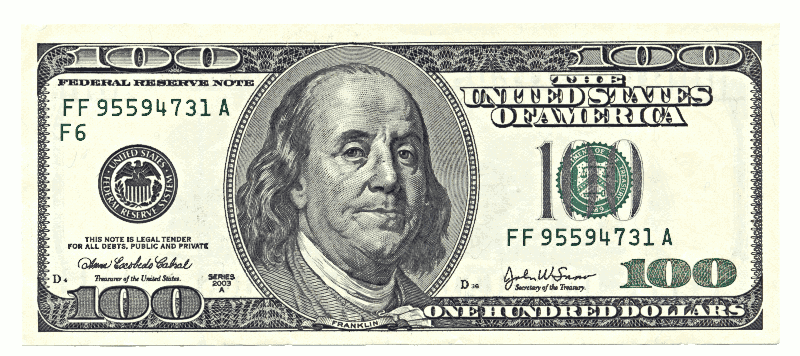 1 Dollar Bill Clip Art image