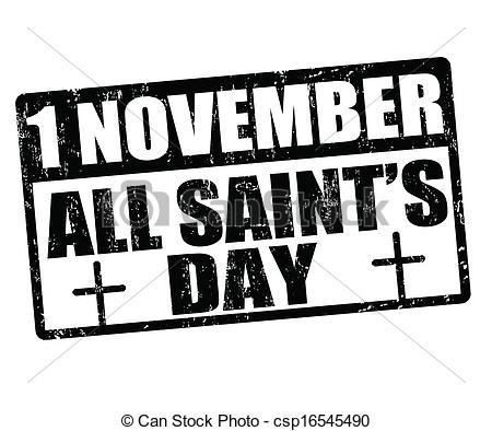 1 November All Saints Day Clipart Image