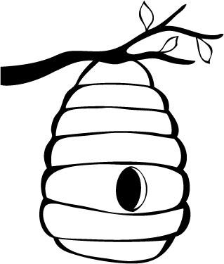 10 Beehive Drawing Free .
