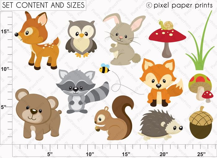 10 Best ideas about Woodland  - Woodland Animal Clipart