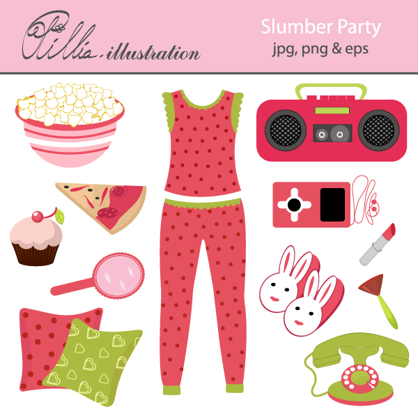 10  images about Mygrafico Slumber party printable kids, cliparts and party ideas on Pinterest | Pizza party, Pajamas and Sleepover