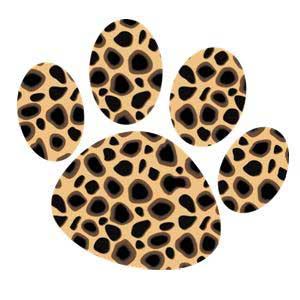 10 Leopard Paw Print Clip Art - Leopard Print Clip Art