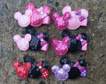10 Minnie Mouse Birthday Favor hair clip Minnie Mouse Hair Clip You pick any
