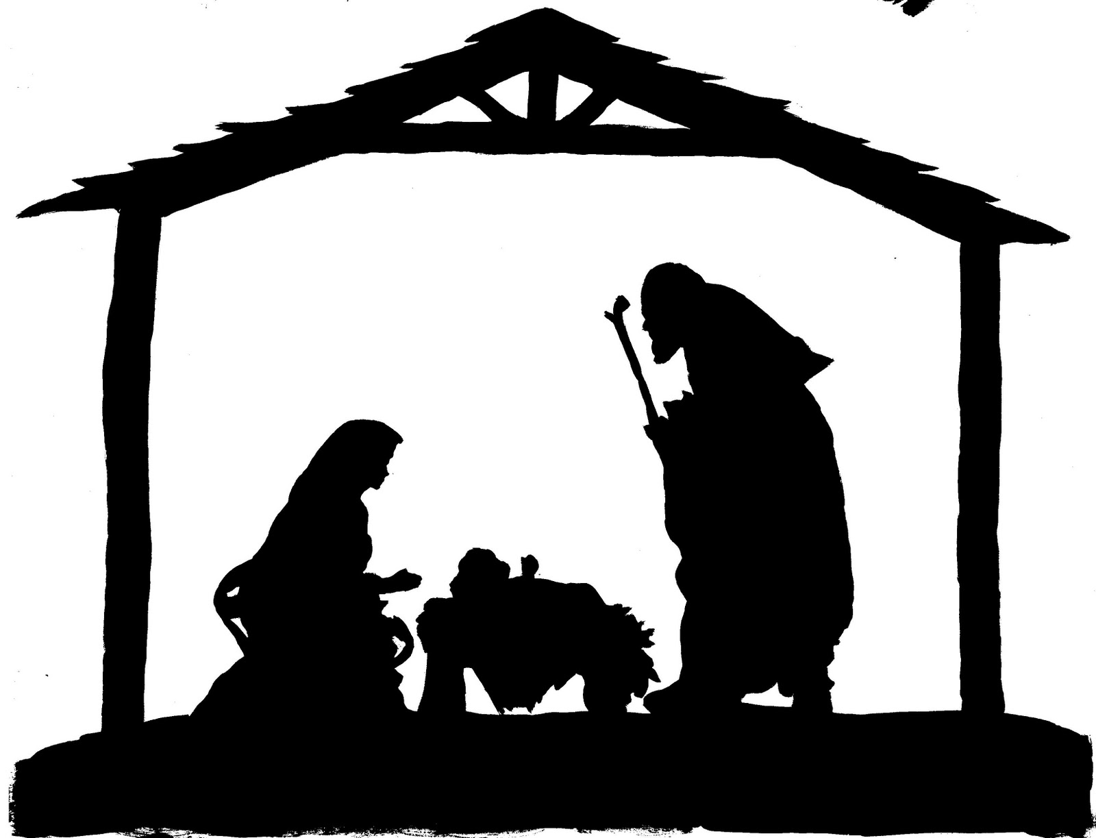 10 Nativity Silhouette .