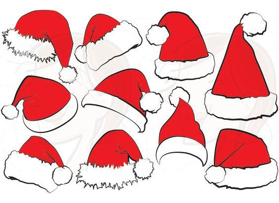 10 Santa Claus Hat Clip Art Christmas Santa Hat Clipart Xmas Santas Hat Red Santa Costume