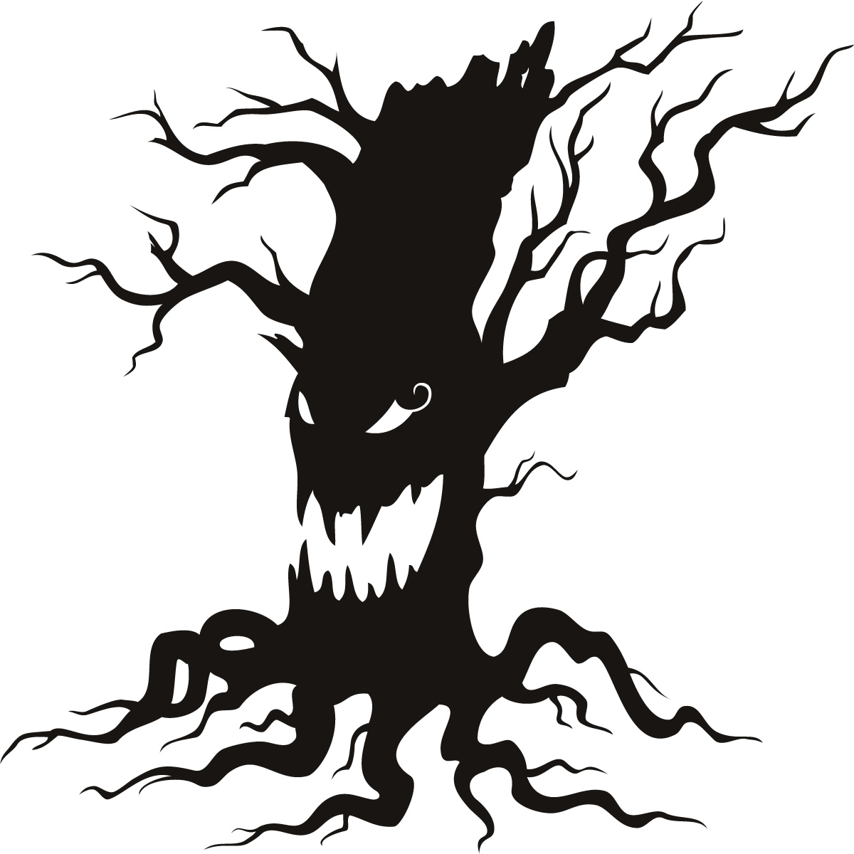 Scary Tree Clipart .