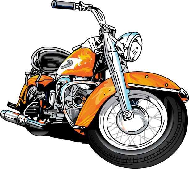 Harley Davidson Motorcycle Clipart