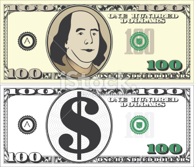 100 Dollar Bill Clipart #1-100 Dollar Bill Clipart #1-14