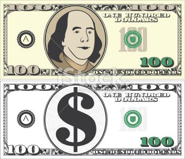 100 Dollar Bill Clipart #1