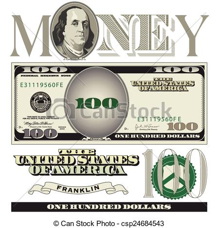 ... 100 Dollar Bill Elements - Miscellan-... 100 dollar bill elements - Miscellaneous 100 dollar bill.-18