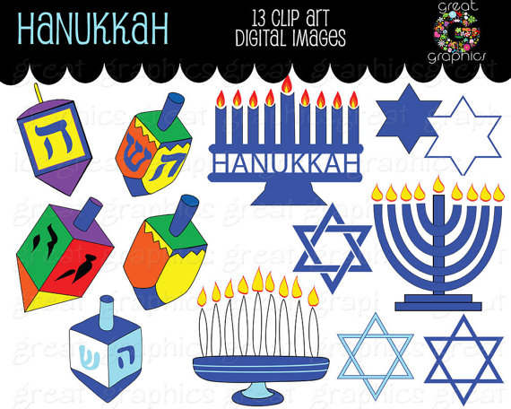 1000  images about Clipart: December: Hanukkah on Pinterest | Scrapbook kit, Christmas animals and Animals