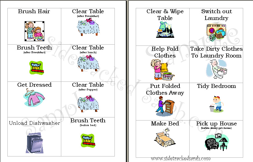 picture regarding Printable Picture Chore Cards known as Chore Clip Artwork Glance At Clip Artwork Visuals - ClipartLook