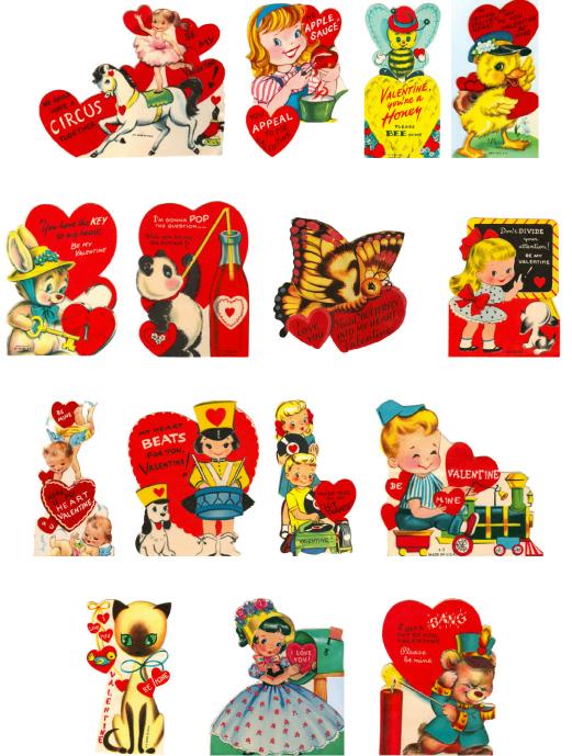 Vintage Valentine Clip Art