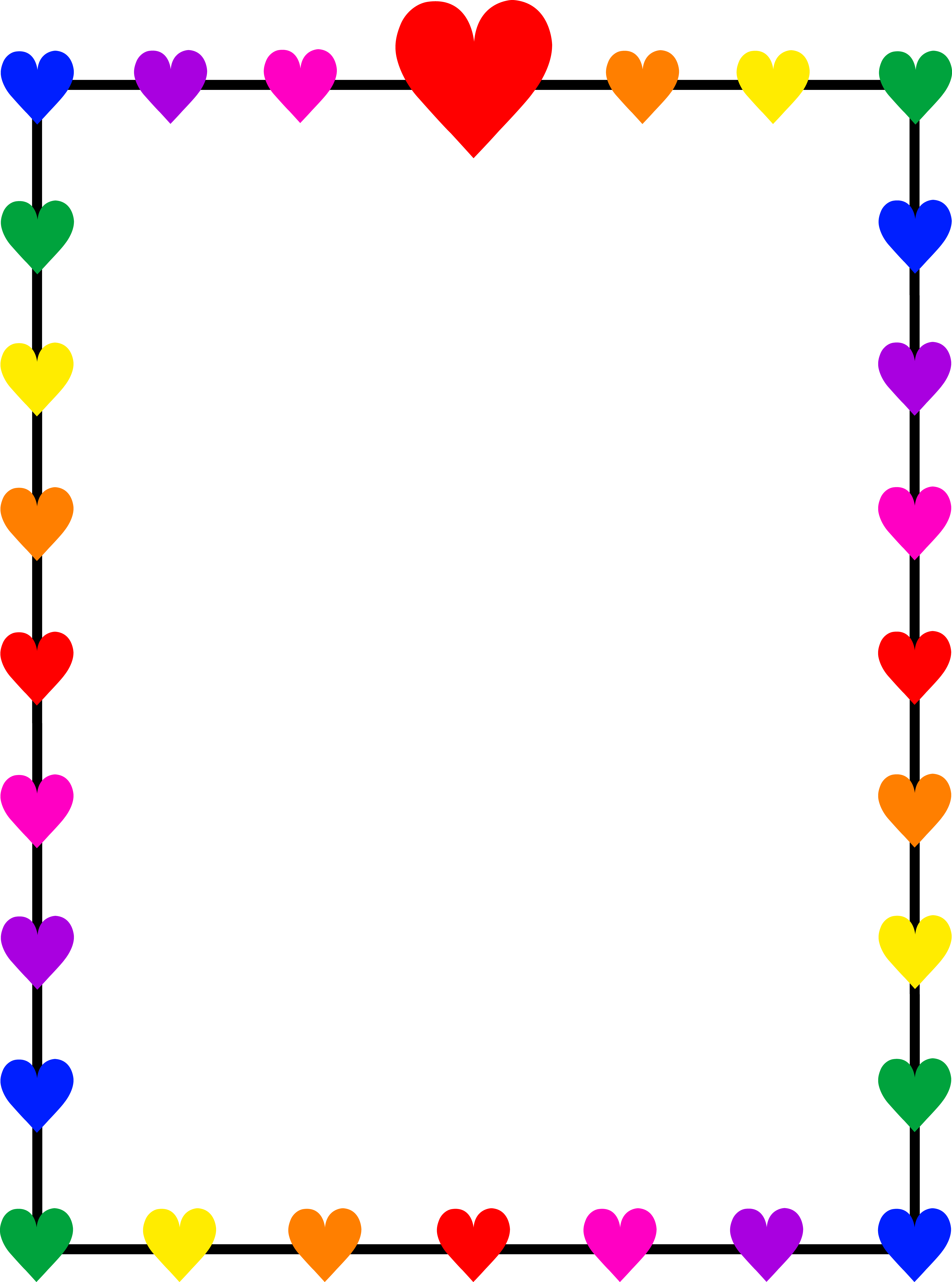 1000  images about heart bord - Heart Border Clipart