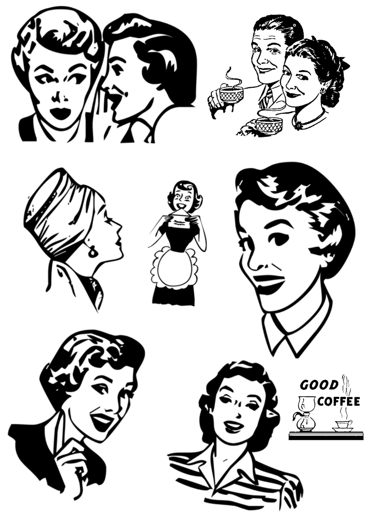 1000  images about Retro CLip Art on Pinterest | Antiques online, Advertising and Vintage
