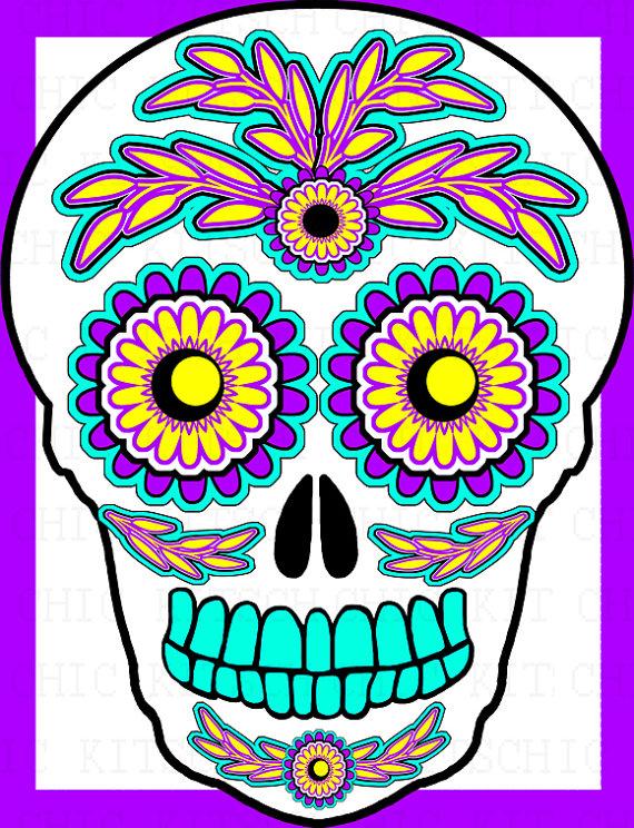 1000  images about sugar skulls on Pinterest | Sugar skull design, Clip art and Graphics