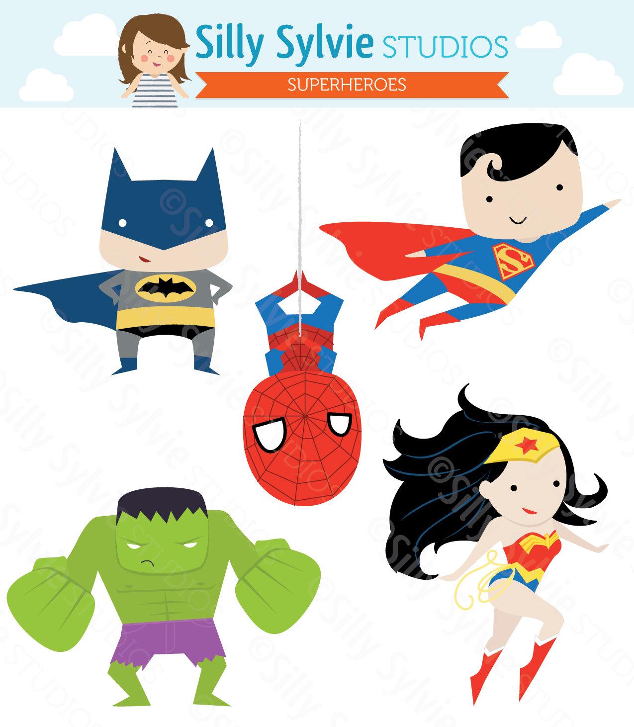 Superheroes Clipart