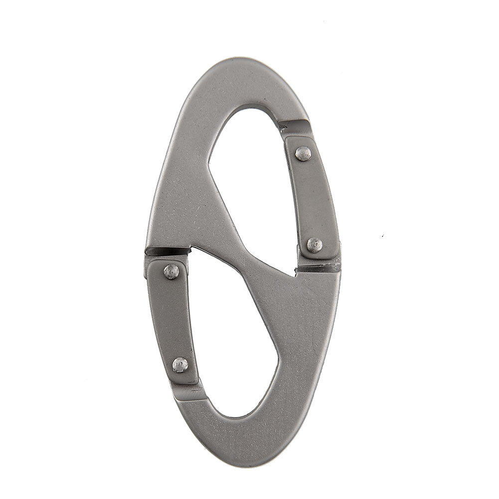 10Pcs Aluminum Silver 8 Shape Carabiner Clip Snap Hook Keychain Mountain Climbing Hiking Scouts Buckle Outdoor