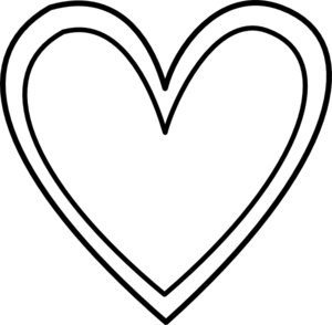 Heart Black And White Clipart