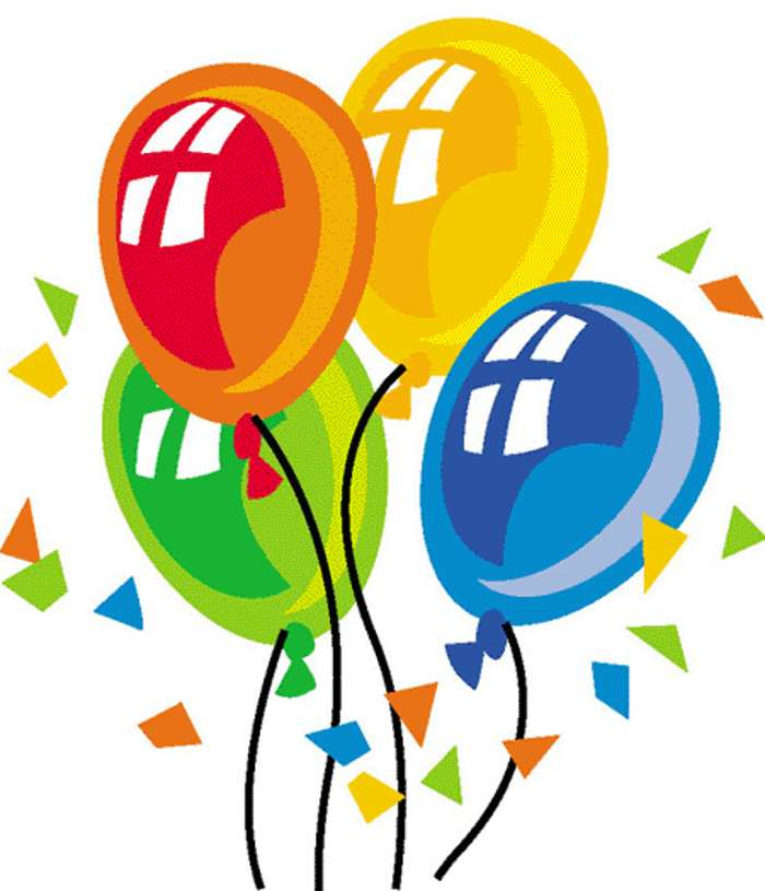 Birthday Balloons Clipart