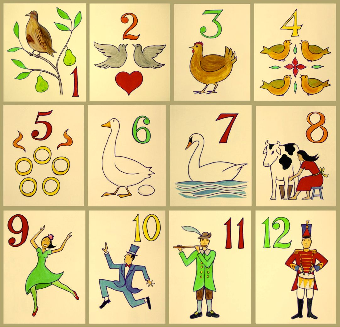 12 Days Of Christmas Clip Art - 12 Days Of Christmas Clipart