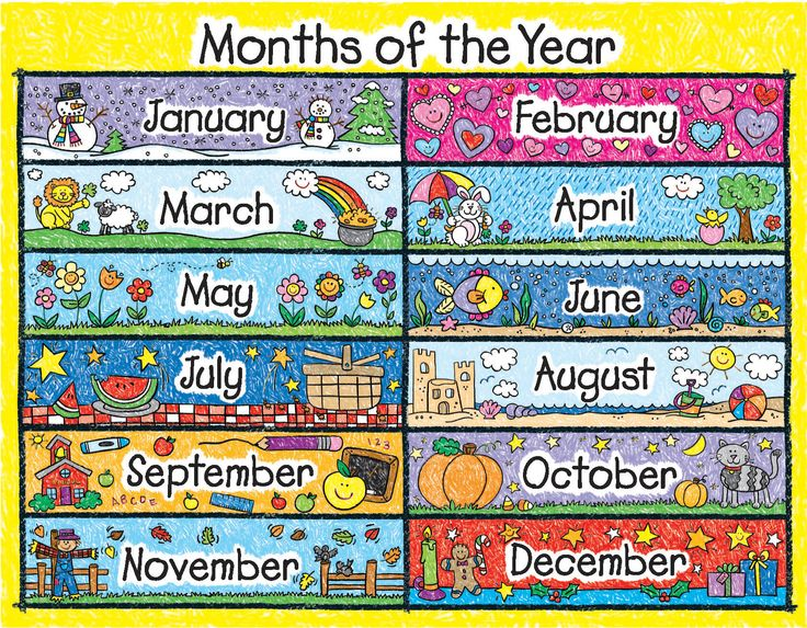 12 Months Of The Year Clipart Months Of The Year Days Of The Week