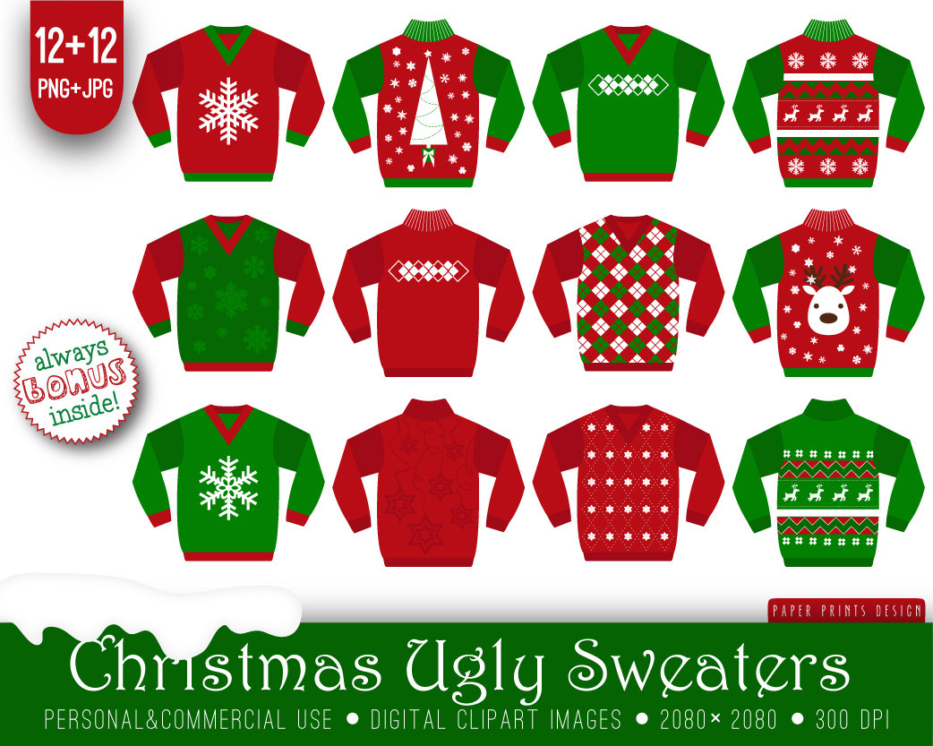 Free Christmas Sweater Clipar