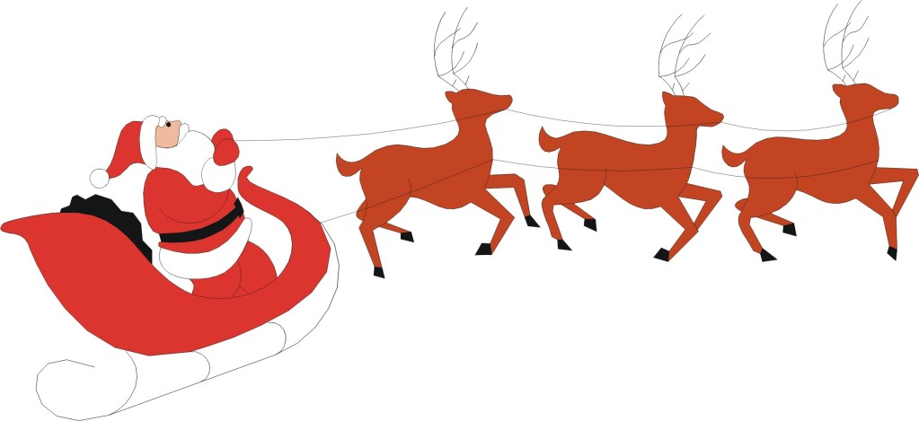 13 Images Of Santa And Reindeer Free Cli-13 Images Of Santa And Reindeer Free Cliparts That You Can Download-1