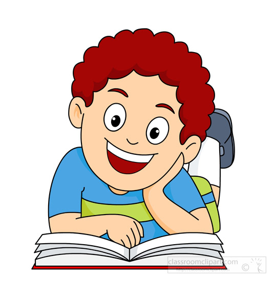 Reading A Book Clipart