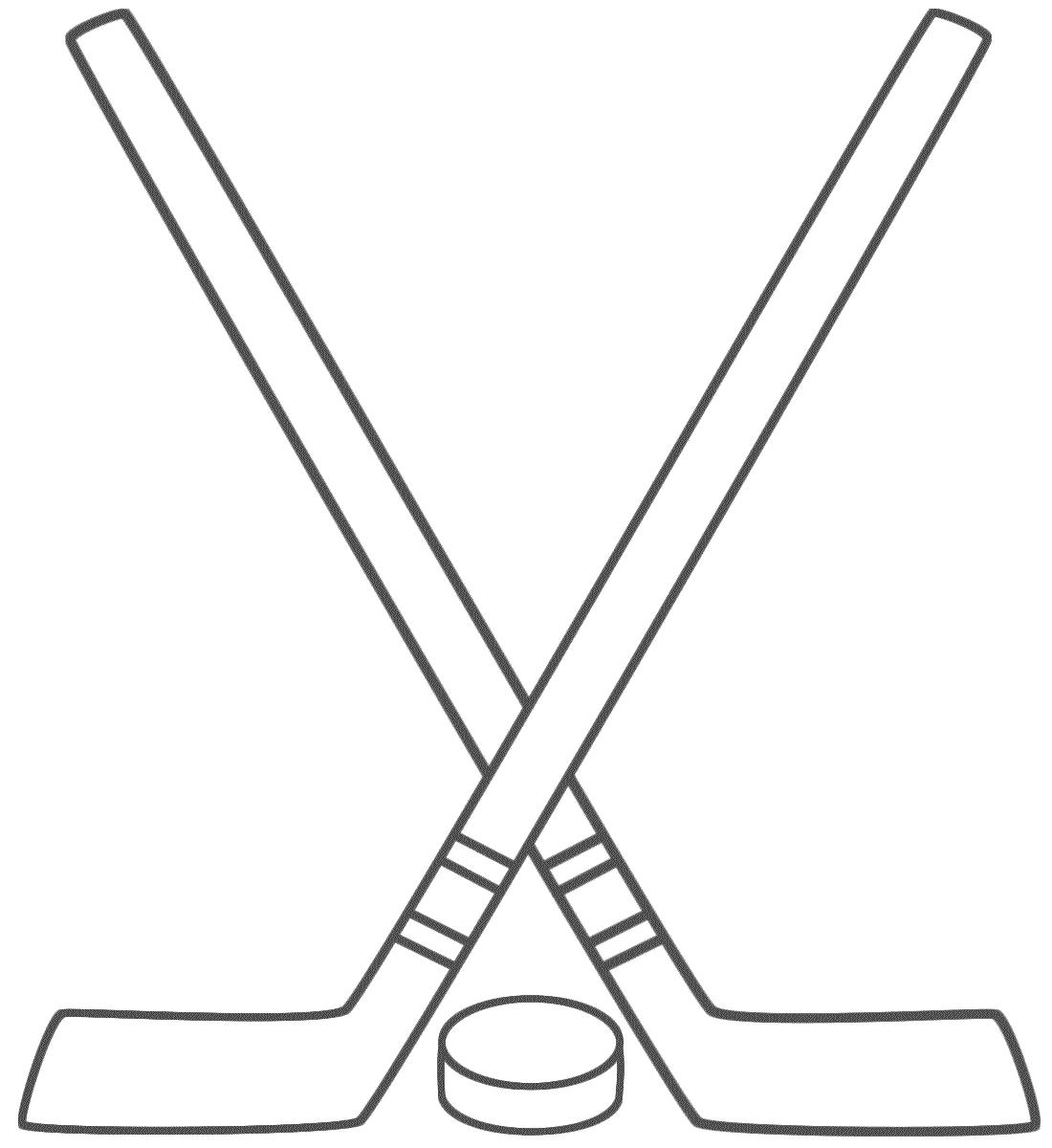 Hockey Sticks Clipart