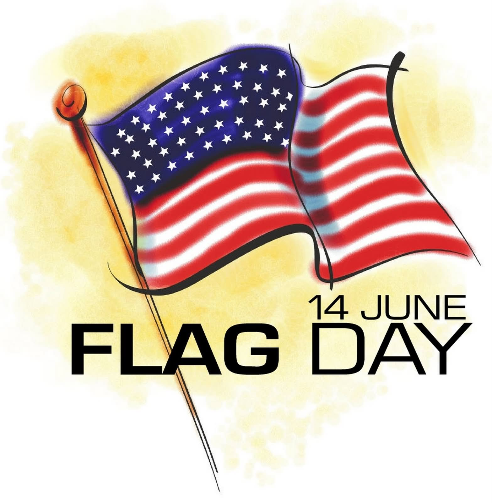 14 June American Flag Day Clipart-14 June American Flag Day Clipart-0